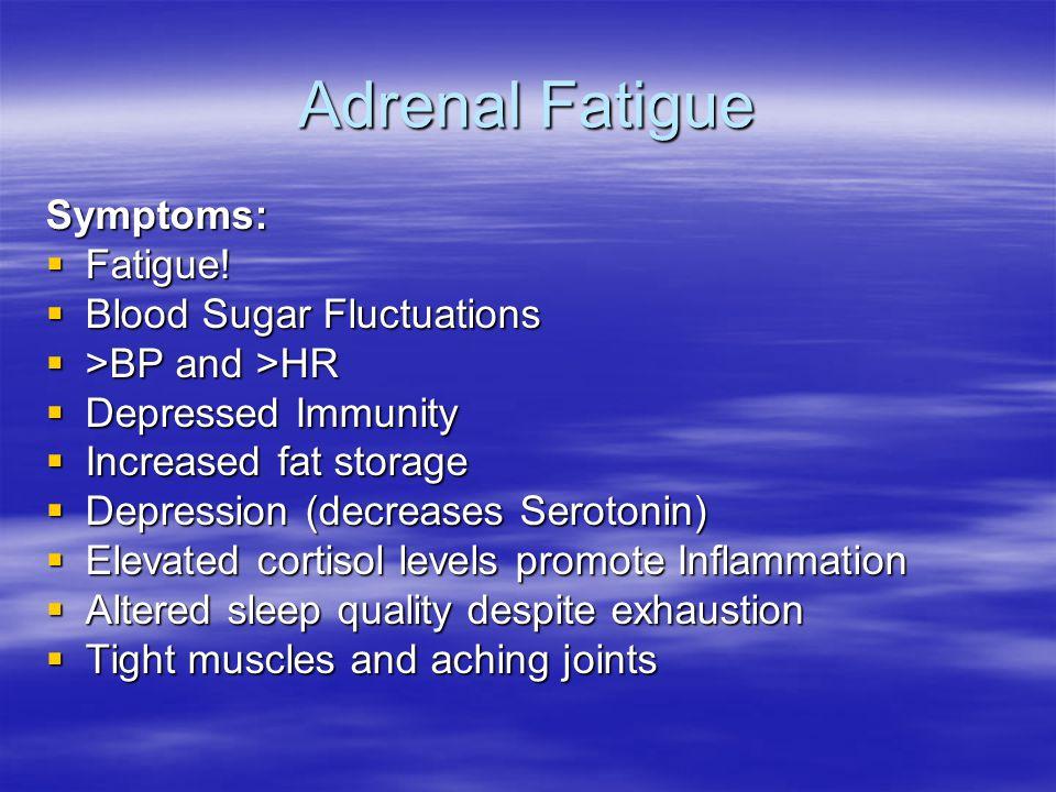 Adrenal Fatigue Symptoms:  Fatigue.