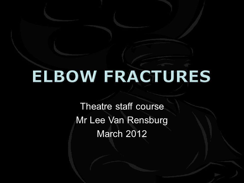 Theatre staff course Mr Lee Van Rensburg March 2012