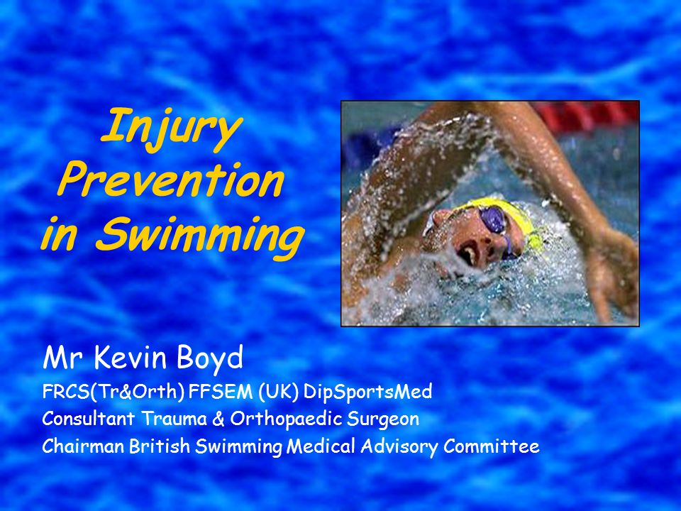 Acute Injuries TRAUMATIC Head & C-Spine –Diving –Correct technique Fingers / Feet Falls –Wet Environment Drowning Education & Discipline