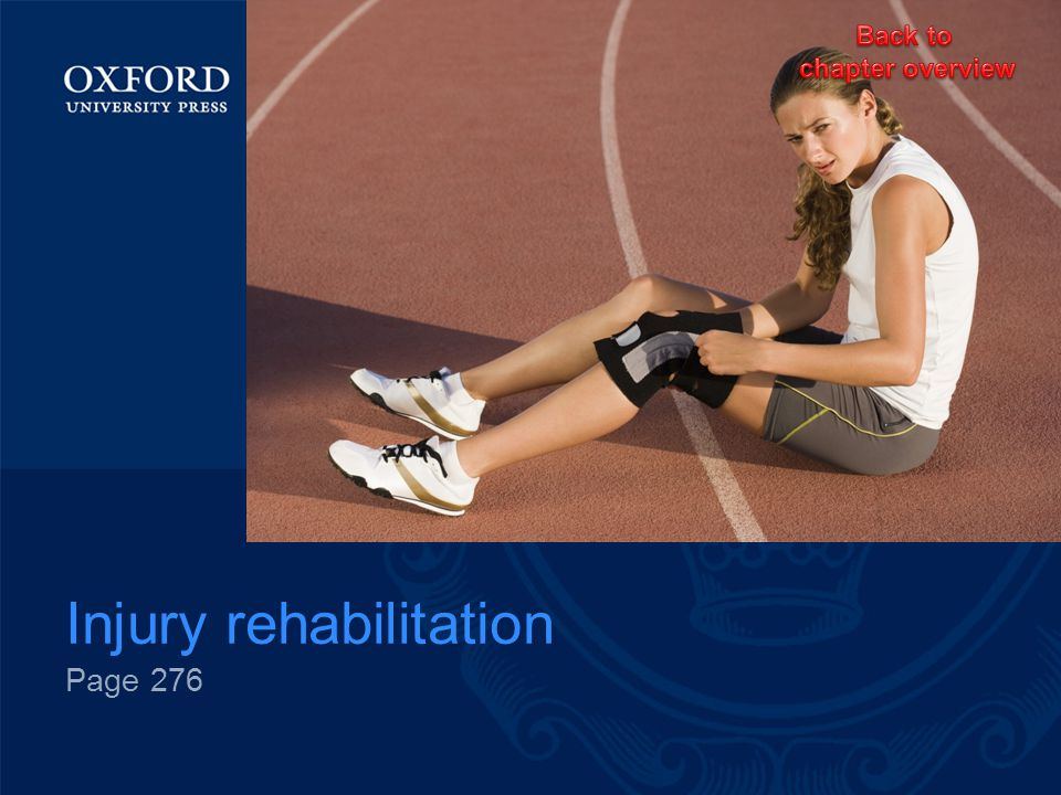 Injury rehabilitation Page 276