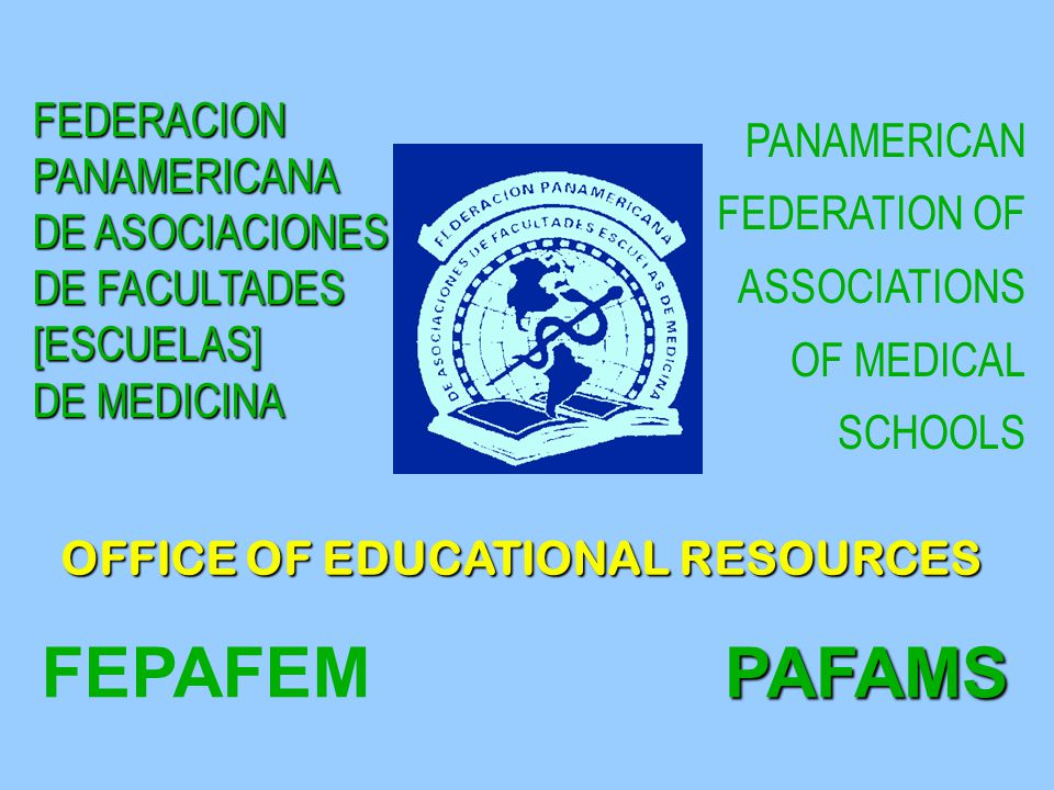 ORGANIZATION PAFAMS VICE-PRESIDENT PRESIDENT TREASURER Vocal North America Vocal North America Vocal South America Vocal South America Vocal Caribbean and Central America Vocal Caribbean and Central America Administrative Committee Executive Director l PAFAMS office of Educational Resources - Bogotá l PAFAMS office - Caracas l PAFAMS office of Educational Resources - Bogotá l PAFAMS office - Caracas