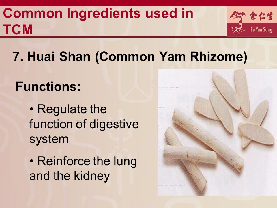 Common Ingredients used in TCM 7.