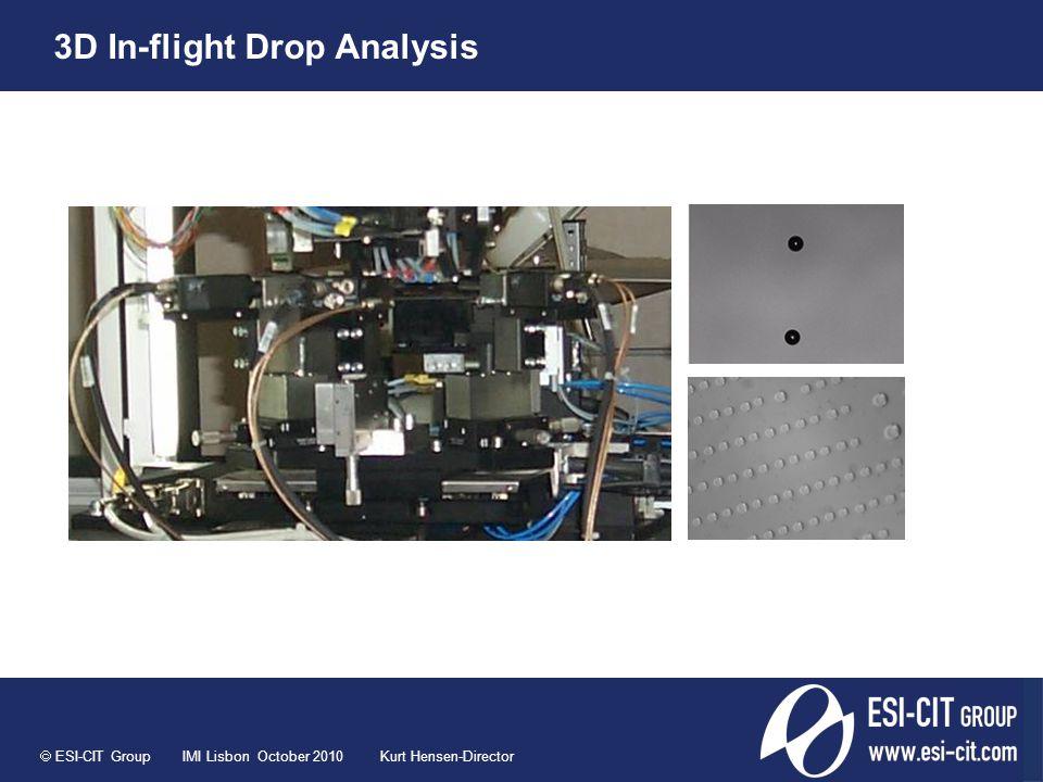 ESI-CIT Group IMI Lisbon October 2010 Kurt Hensen-Director 3D In-flight Drop Analysis