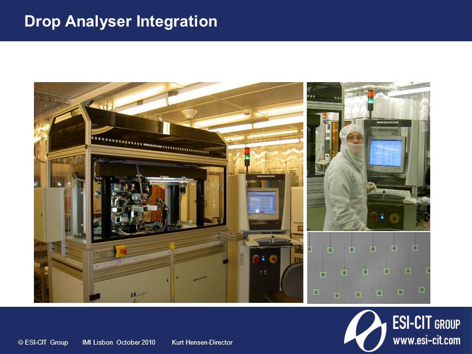  ESI-CIT Group IMI Lisbon October 2010 Kurt Hensen-Director Drop Analyser Integration