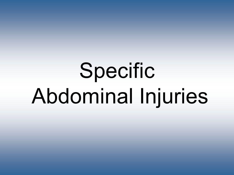 Specific Abdominal Injuries