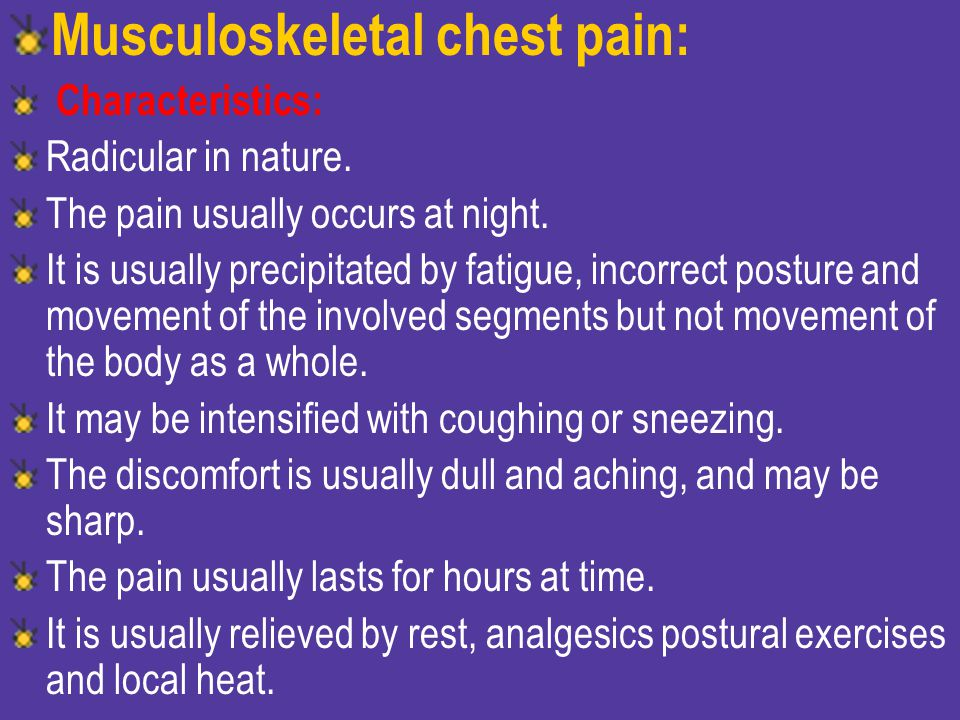Tioetze's syndrome: - Costochondral and chondrosternal pain, or swelling or both.