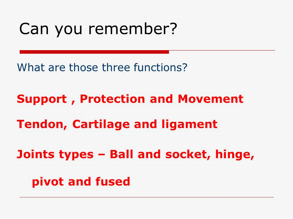 Can you remember. What are those three functions.