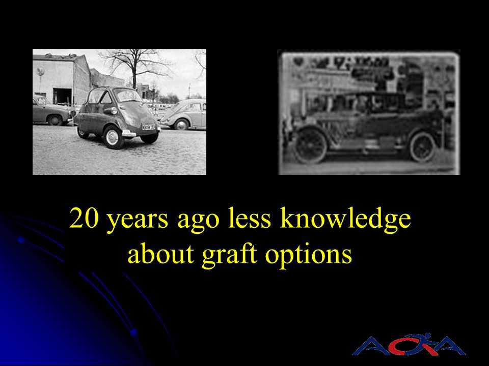 20 years ago less knowledge about graft options