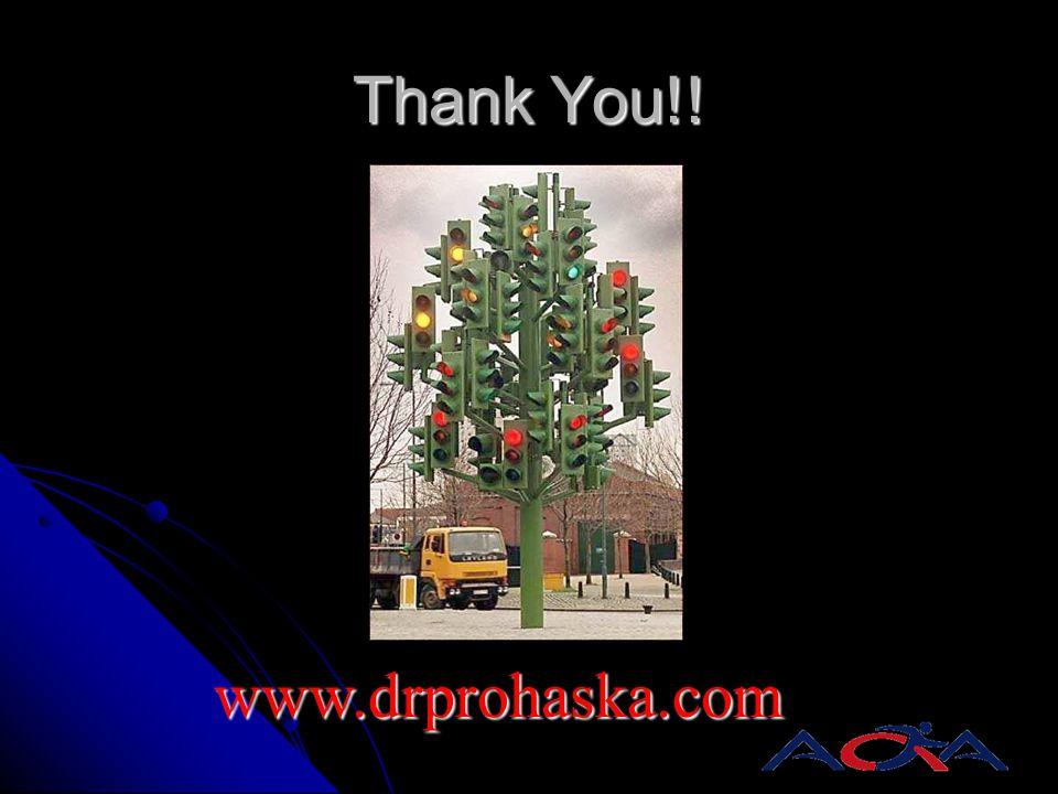 Thank You!! www.drprohaska.com
