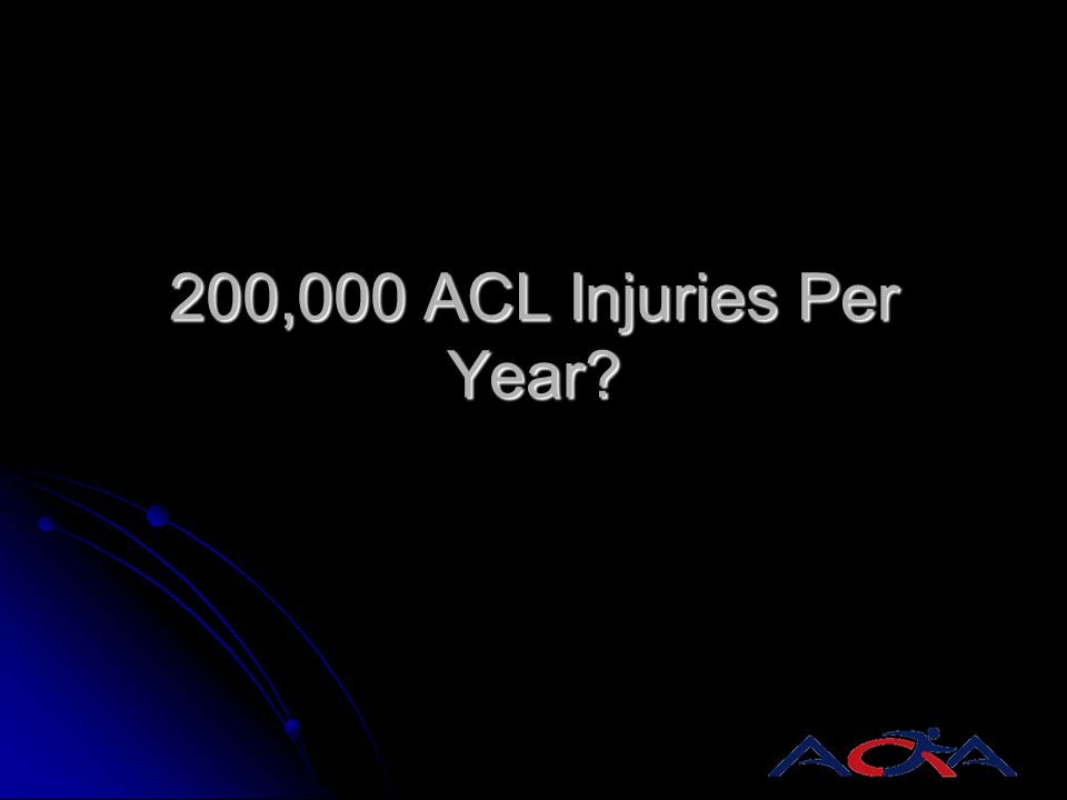 200,000 ACL Injuries Per Year?