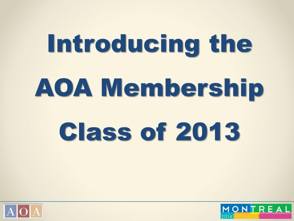 Introducing the AOA Membership Class of 2013