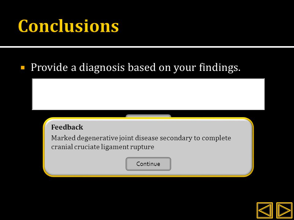  Provide a diagnosis based on your findings.