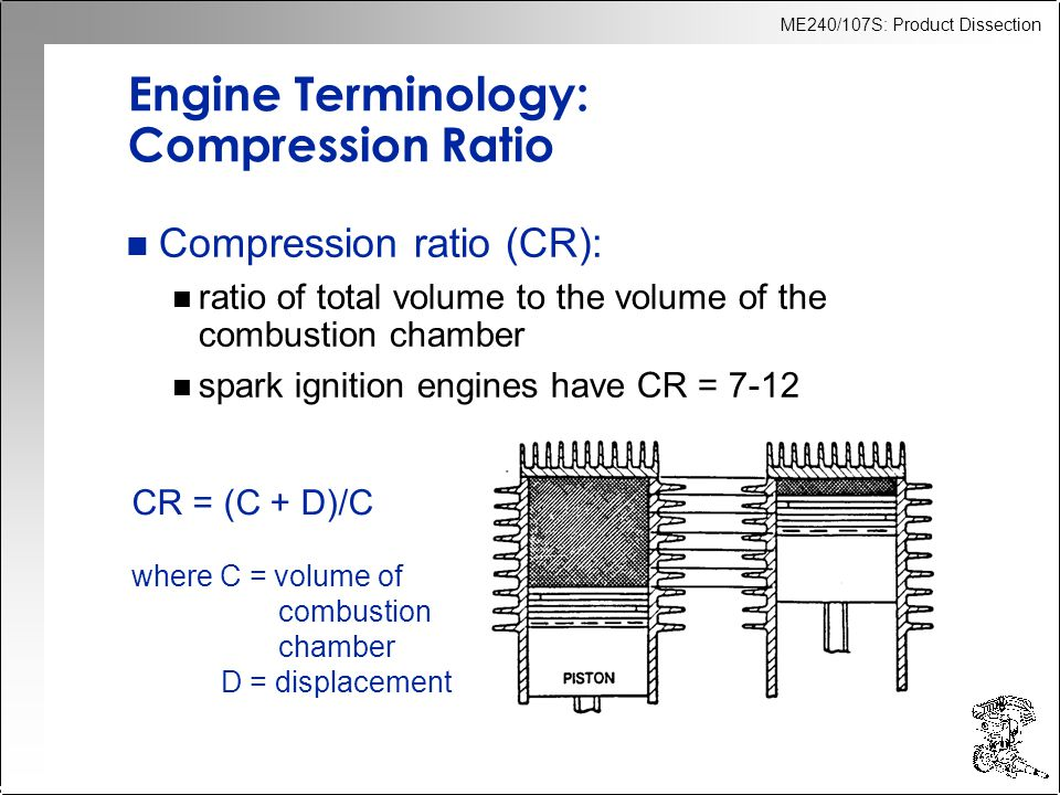 ME240/107S: Product Dissection Classification of Engines n External vs.