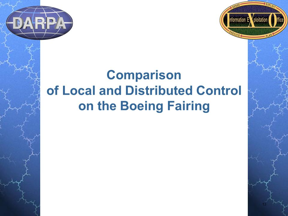 13 Comparison of Local and Distributed Control on the Boeing Fairing