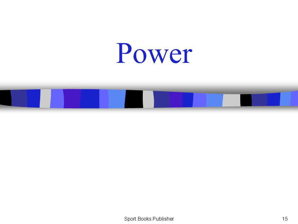 Sport Books Publisher15 Power