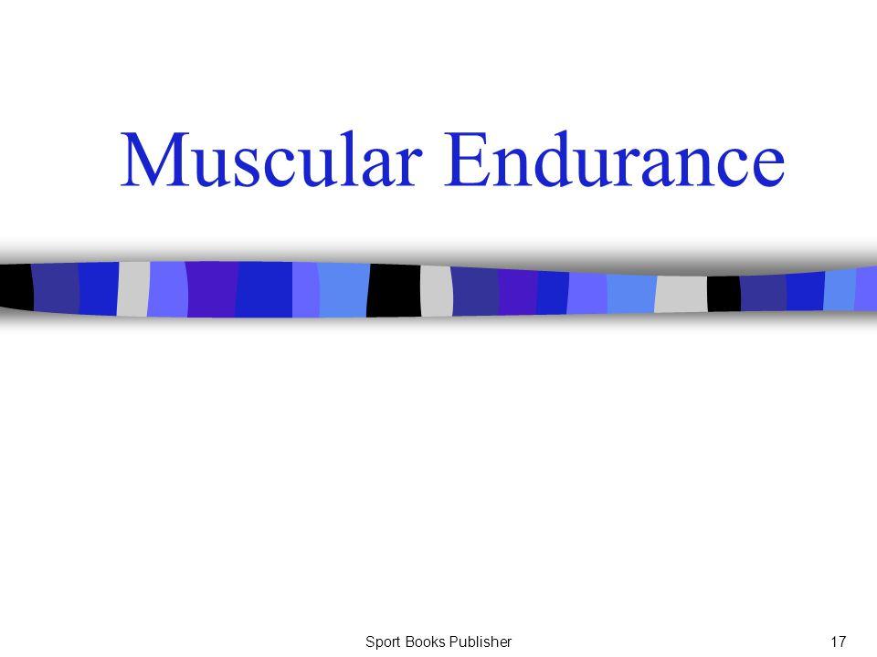 Sport Books Publisher17 Muscular Endurance