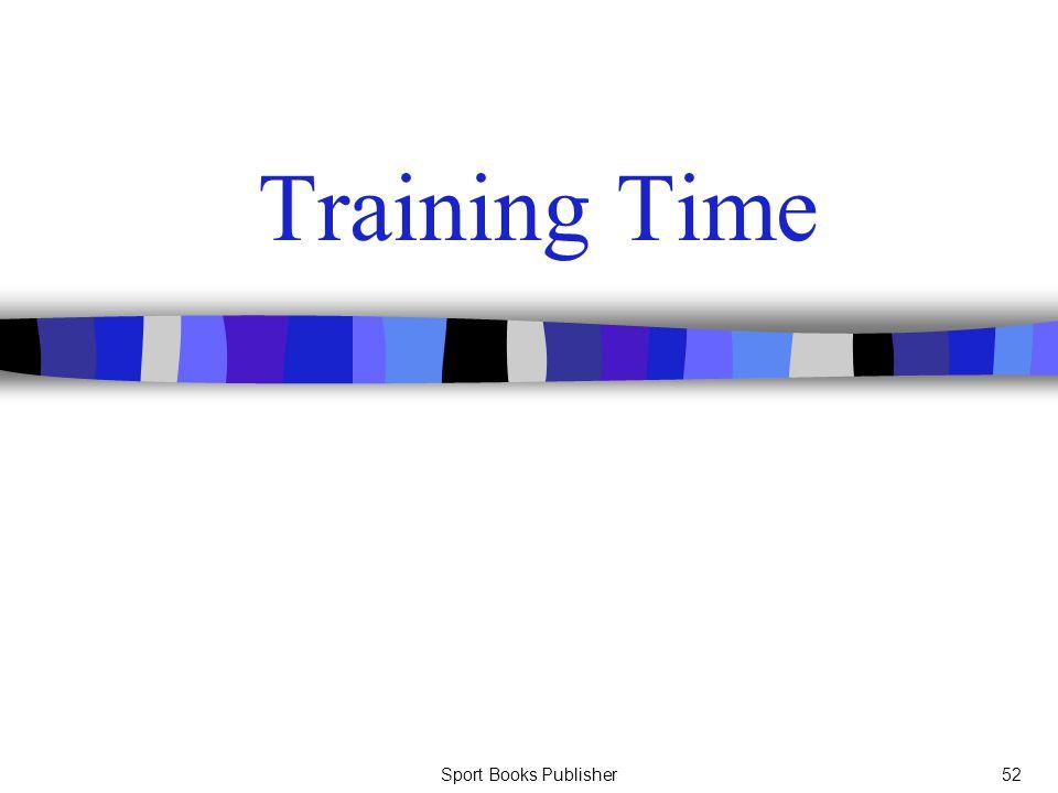 Sport Books Publisher52 Training Time