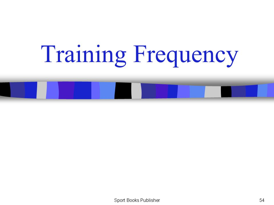 Sport Books Publisher54 Training Frequency