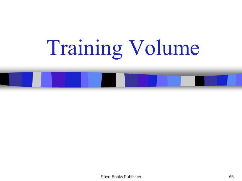 Sport Books Publisher56 Training Volume