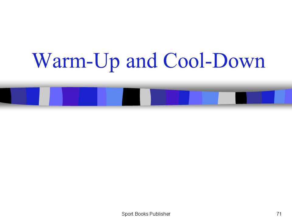 Sport Books Publisher71 Warm-Up and Cool-Down
