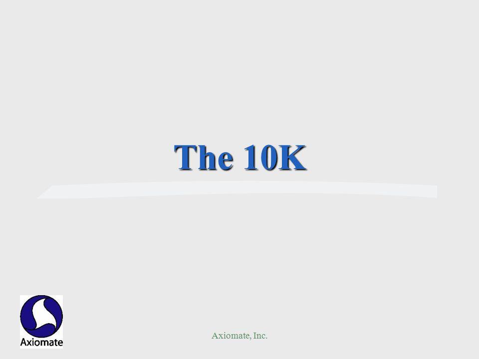 Axiomate, Inc. The 10K