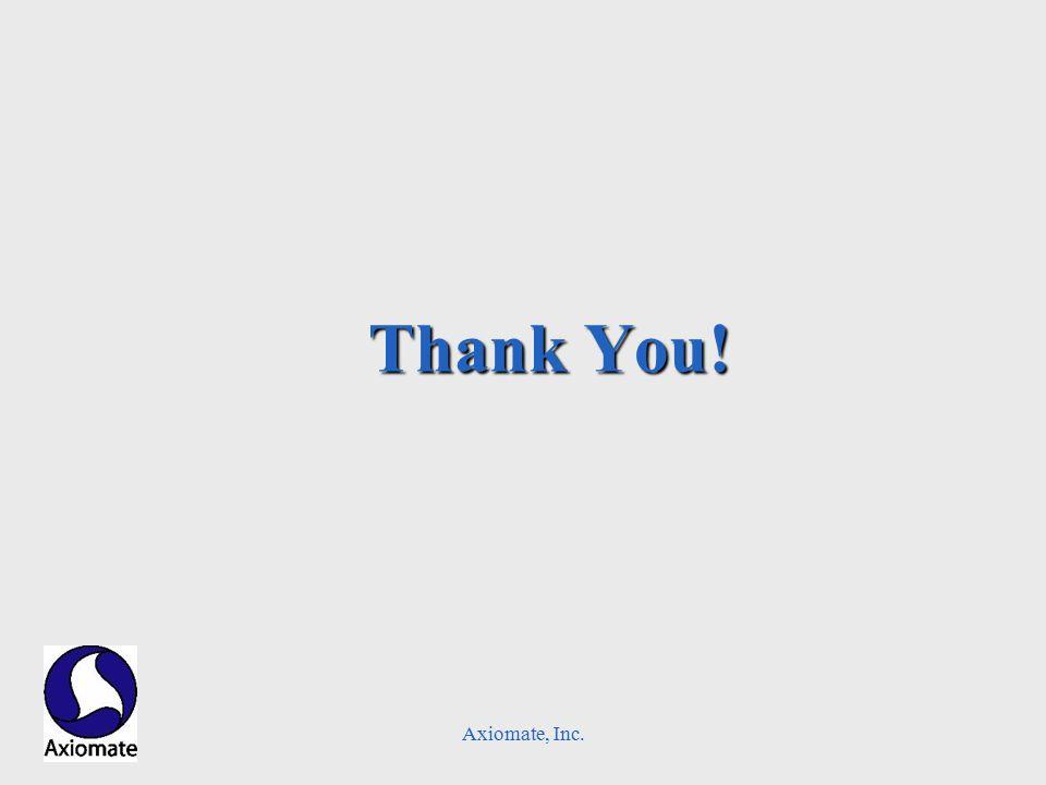 Axiomate, Inc. Thank You!