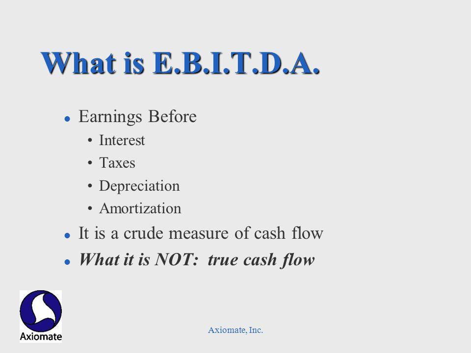 Axiomate, Inc. What is E.B.I.T.D.A.