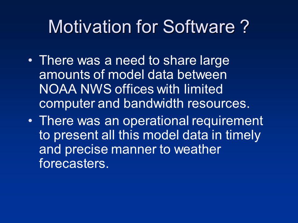 Motivation for Software .