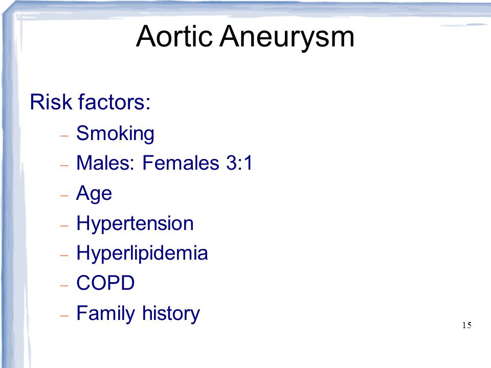 16 Aortic Aneurysm Management:  Mortality related to size.