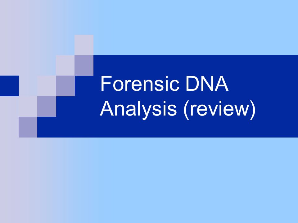 Forensic DNA Analysis (review)