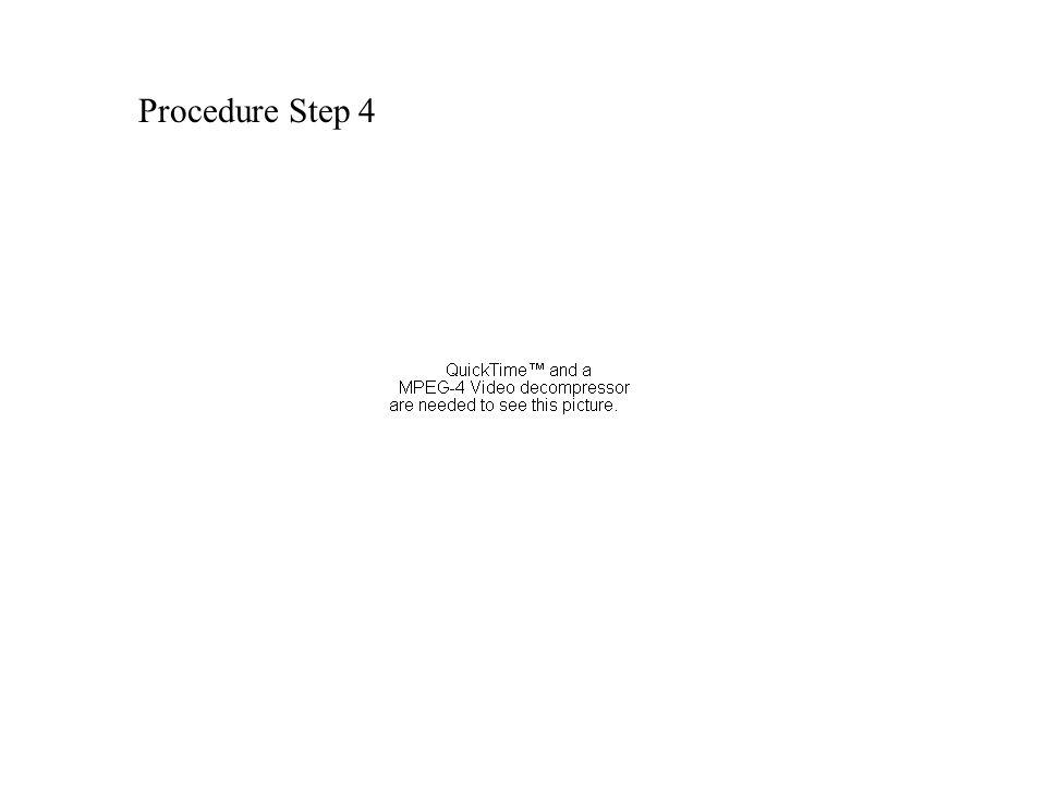Procedure Step 4