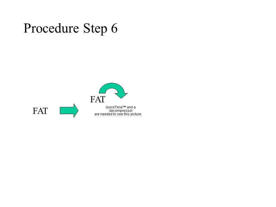 Procedure Step 6 FAT