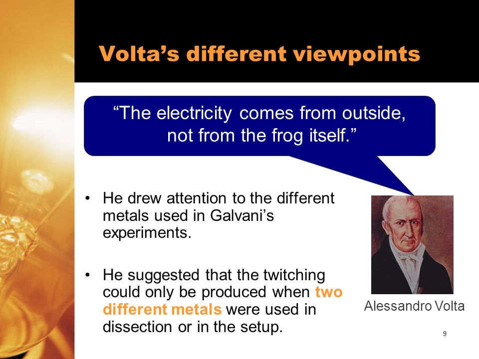 10 Think about these questions … What would have happened if no one had been skeptical of the animal electricity theory proposed by Galvani.