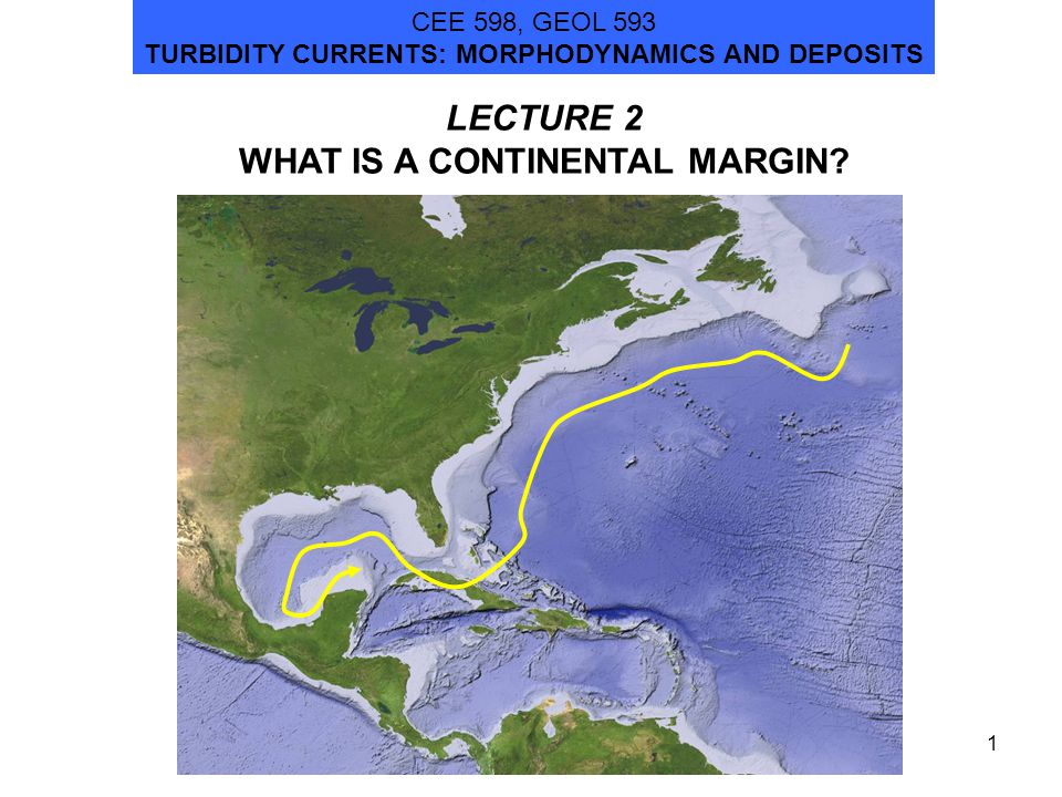 1 LECTURE 2 WHAT IS A CONTINENTAL MARGIN.