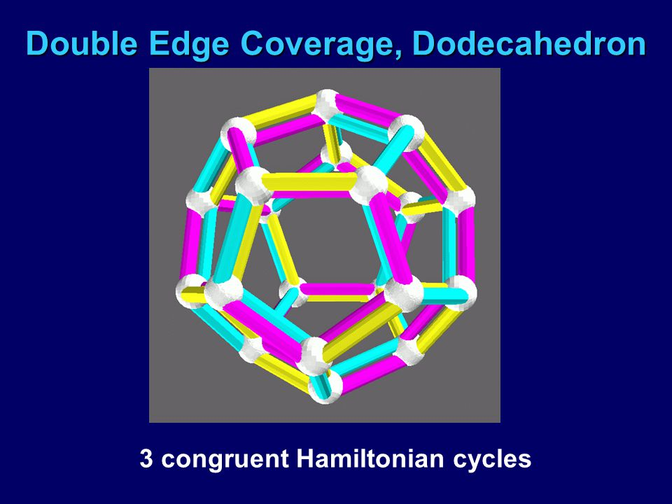 Double Edge Coverage, Dodecahedron 3 congruent Hamiltonian cycles