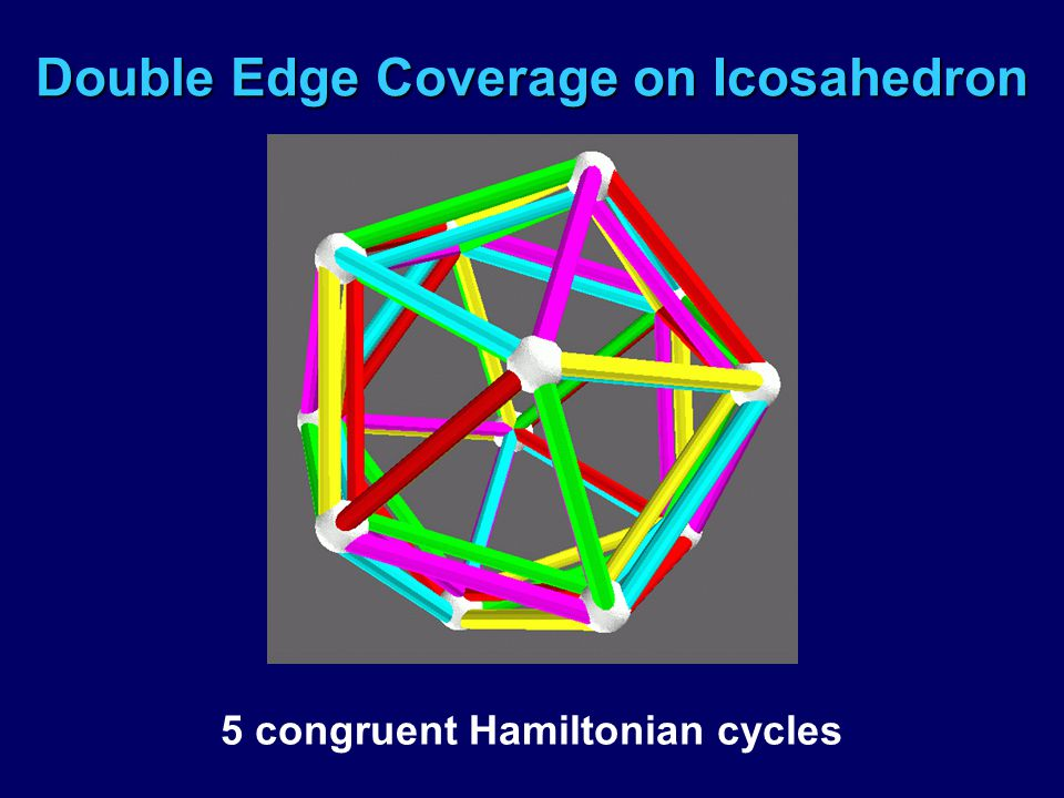 Double Edge Coverage on Icosahedron 5 congruent Hamiltonian cycles
