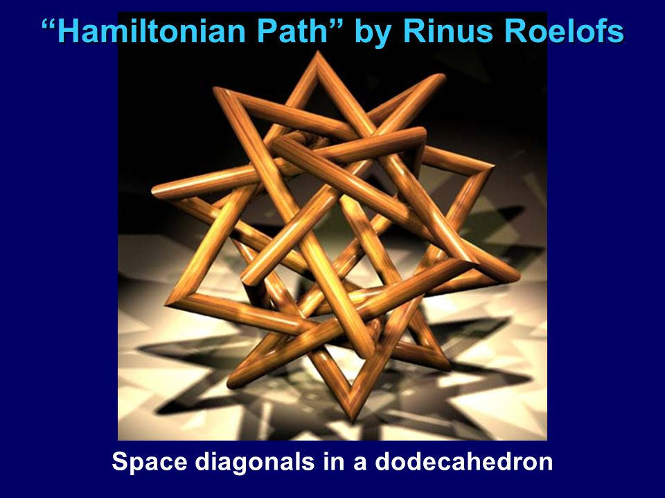 """Hamiltonian Path"" by Rinus Roelofs Space diagonals in a dodecahedron"