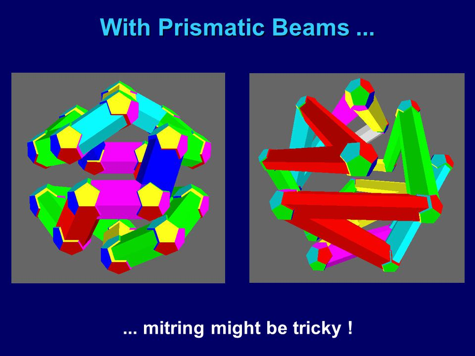 With Prismatic Beams...... mitring might be tricky !