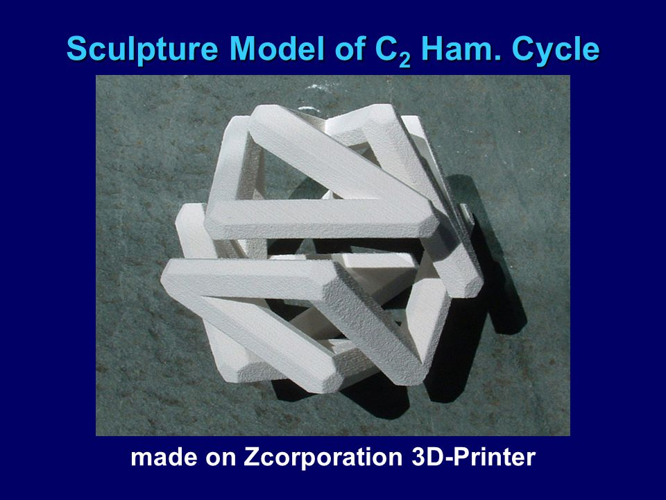 Sculpture Model of C 2 Ham. Cycle made on Zcorporation 3D-Printer