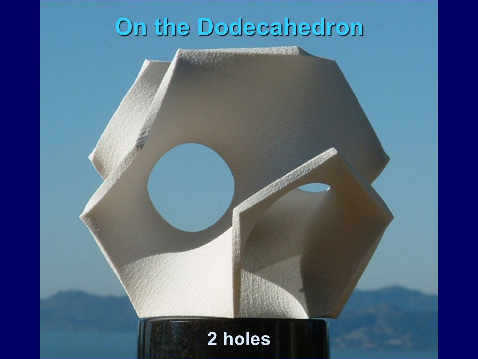 On the Dodecahedron 2 holes
