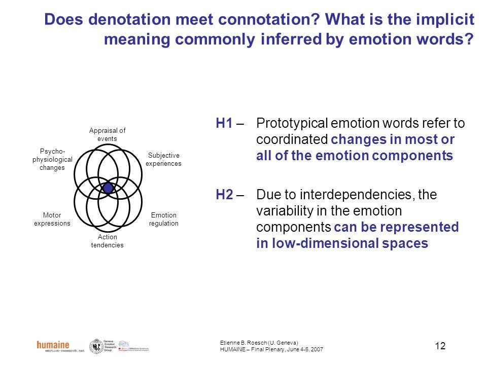 12 Does denotation meet connotation.