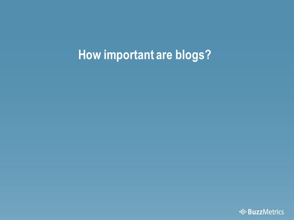 How important are blogs