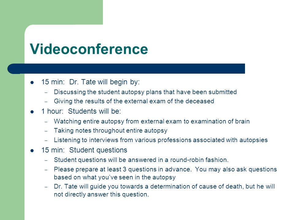 Videoconference 15 min: Dr.