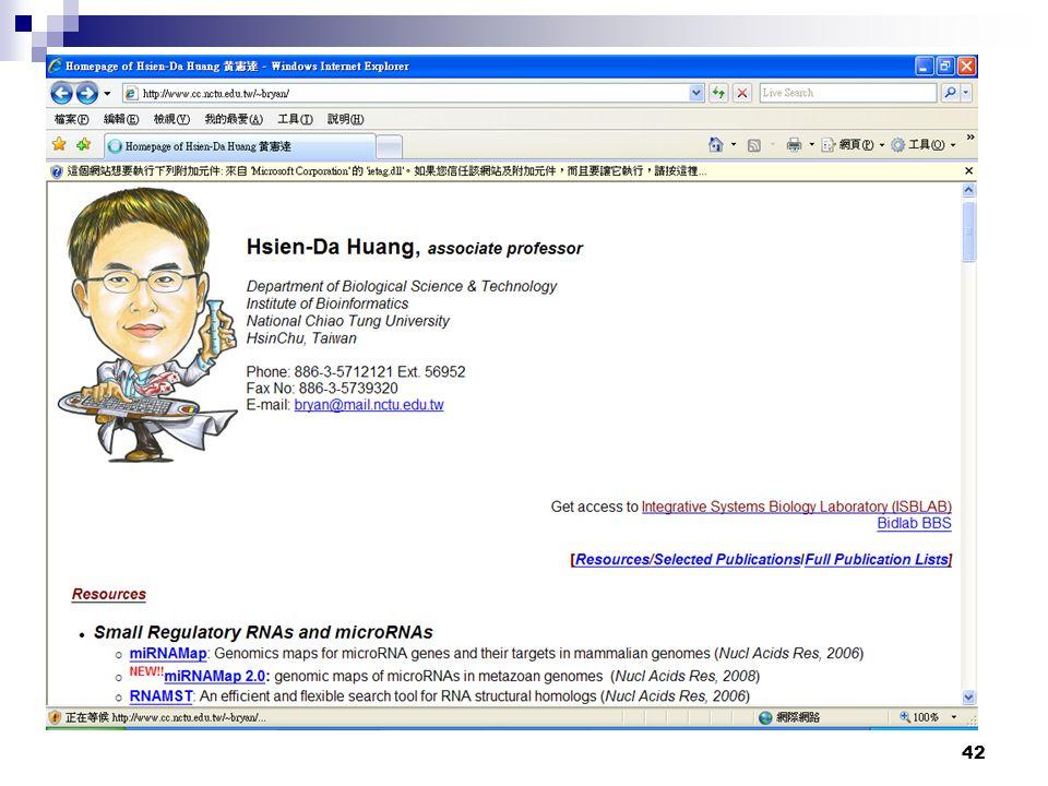 43 Promoter identification http://rgsminer.csie.ncu.edu.tw/index.php