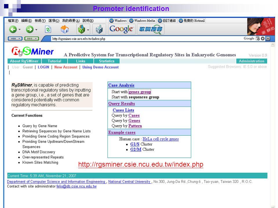 44 Promoter identification