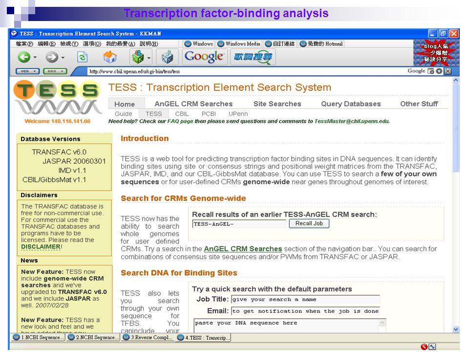 49 Transcription factor-binding analysis