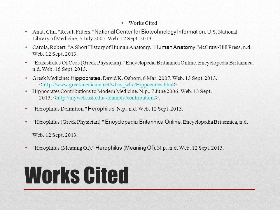 Works Cited Anat, Clin. Result Filters. National Center for Biotechnology Information.