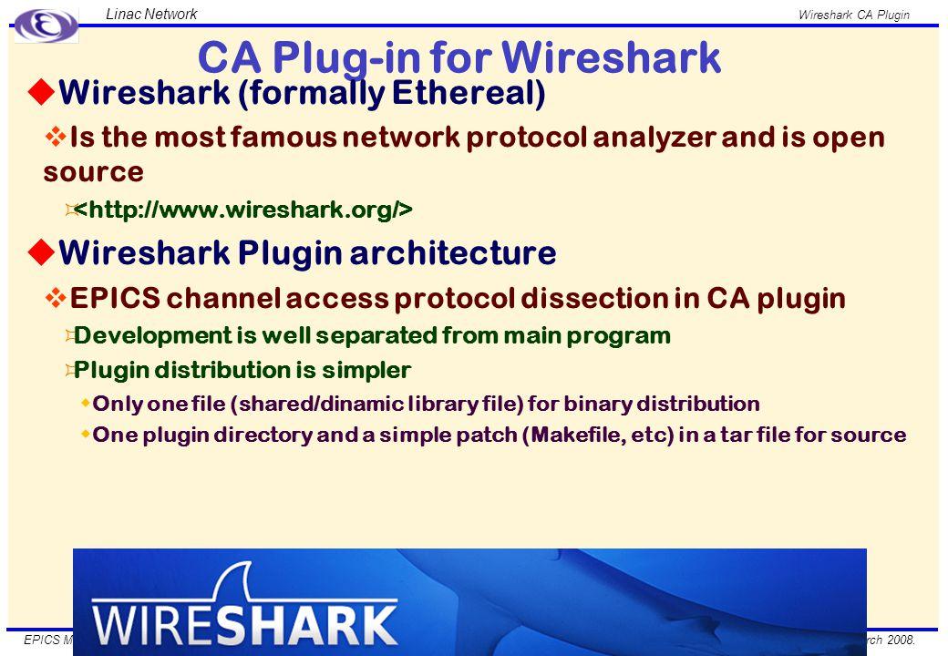 March 2008. Wireshark CA Plugin EPICS Meeting 2008, Shanghai, China.