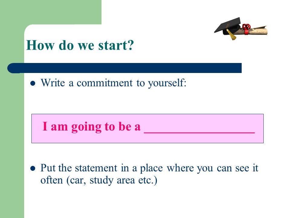 How do we start.