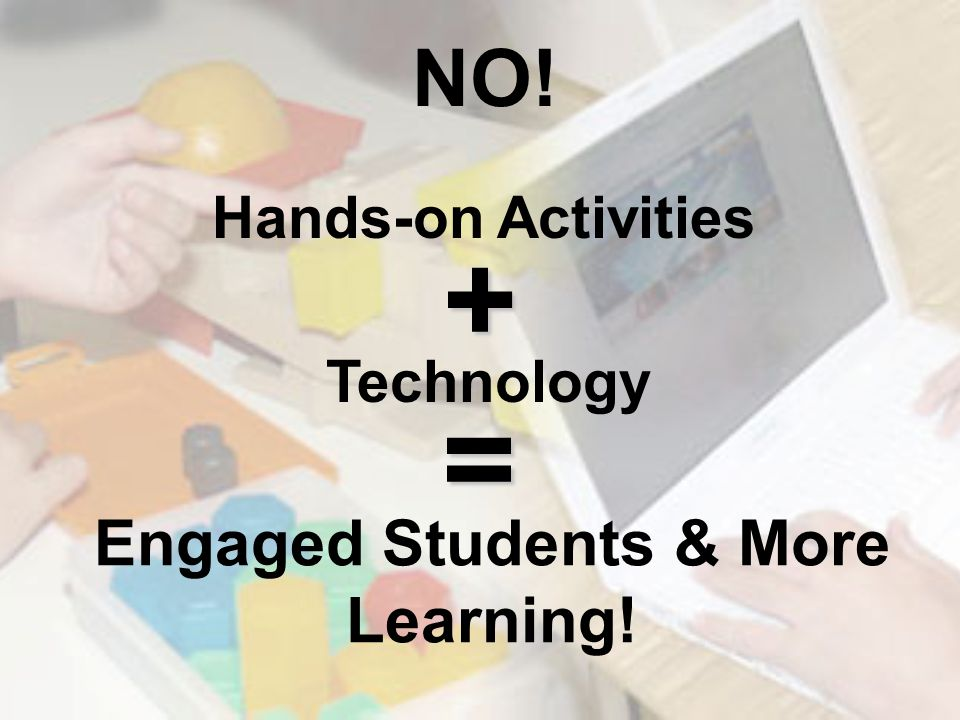 Engaged Students & More Learning! NO! Hands-on Activities + Technology =